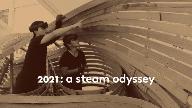 a steam odyssey students VR installation