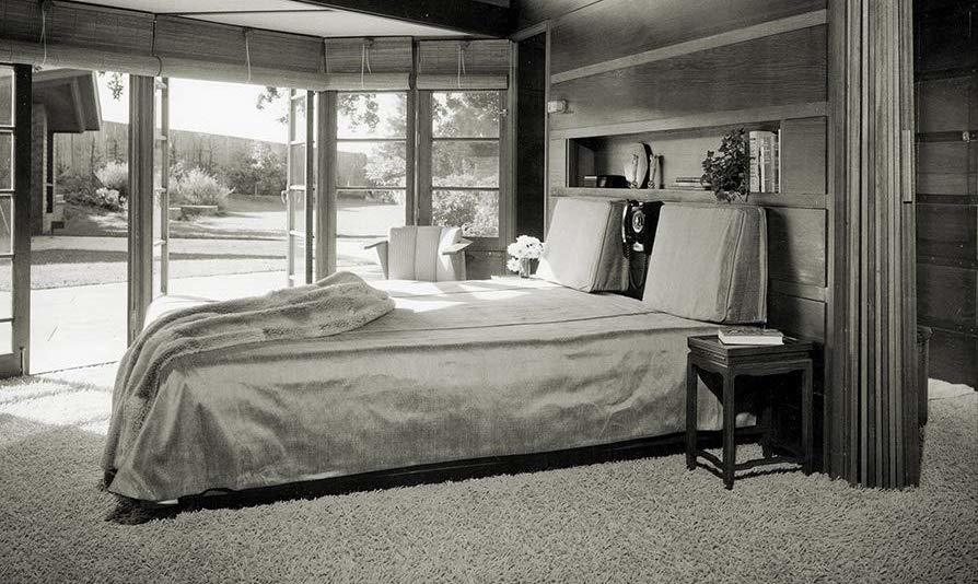 black and white bedroom bed