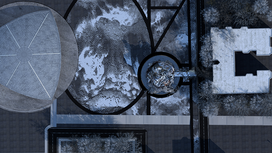 top view rendering