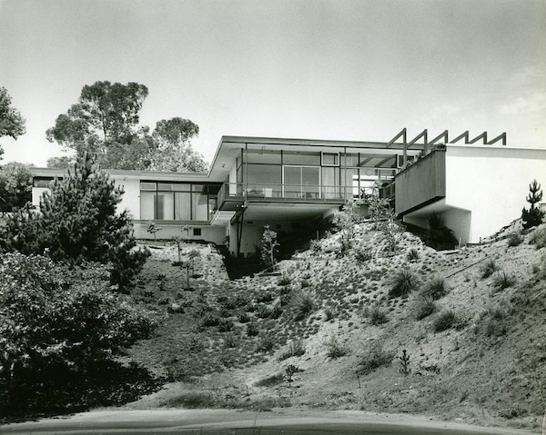 house exterior black and white