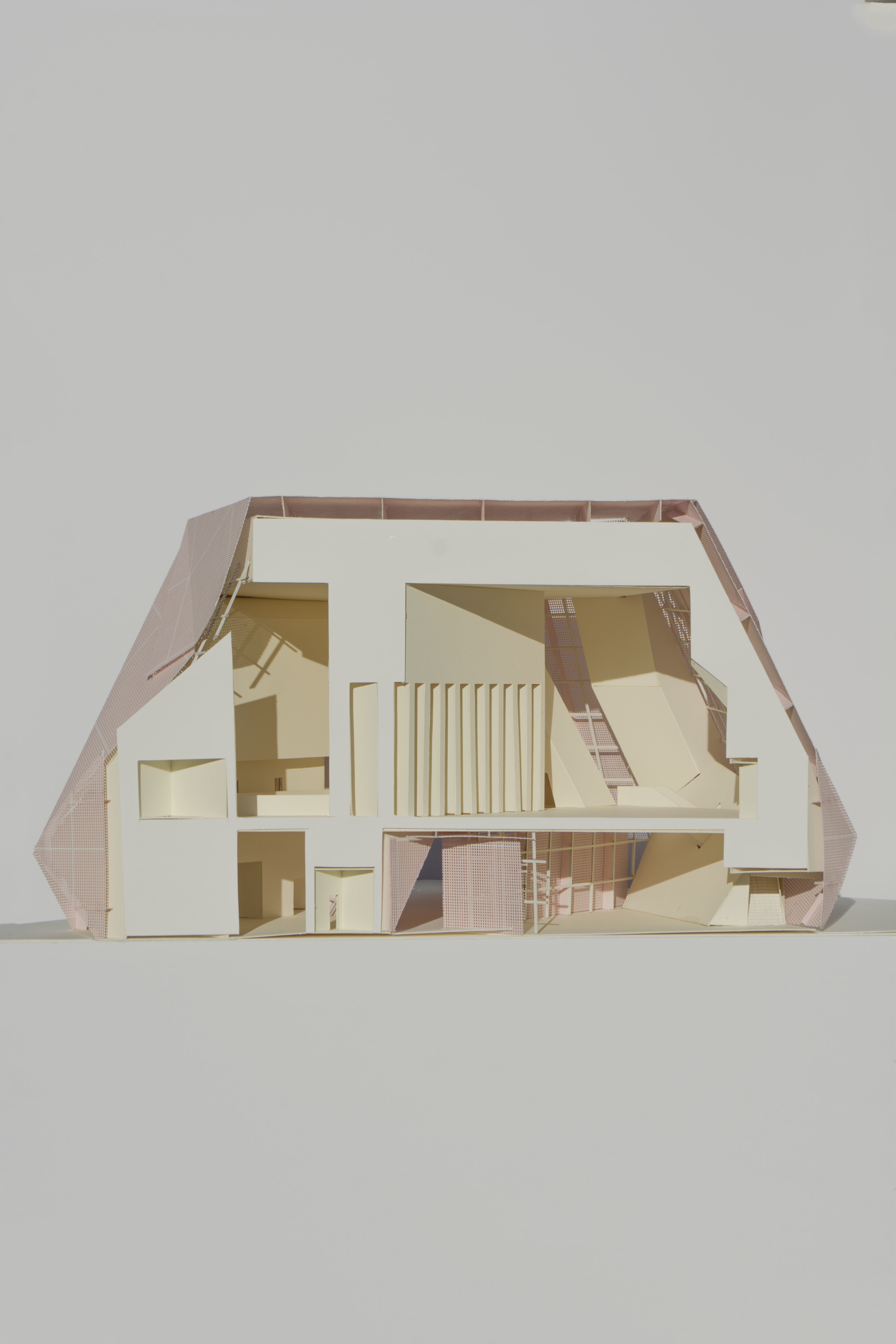 Section model of a library in Hyde Park.  1GA studio// Instructor: Anna Neimark