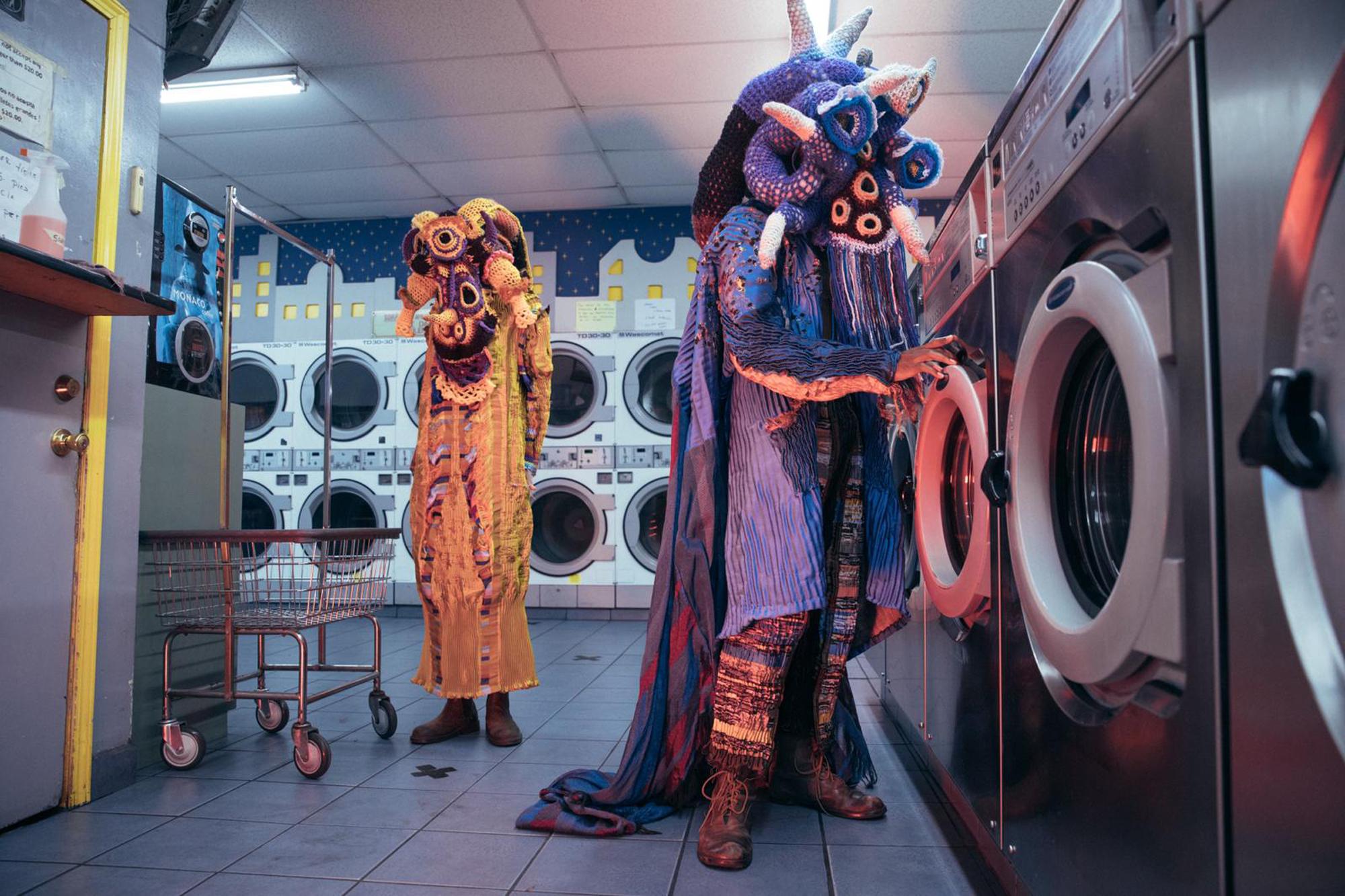 people costumes laundrymat