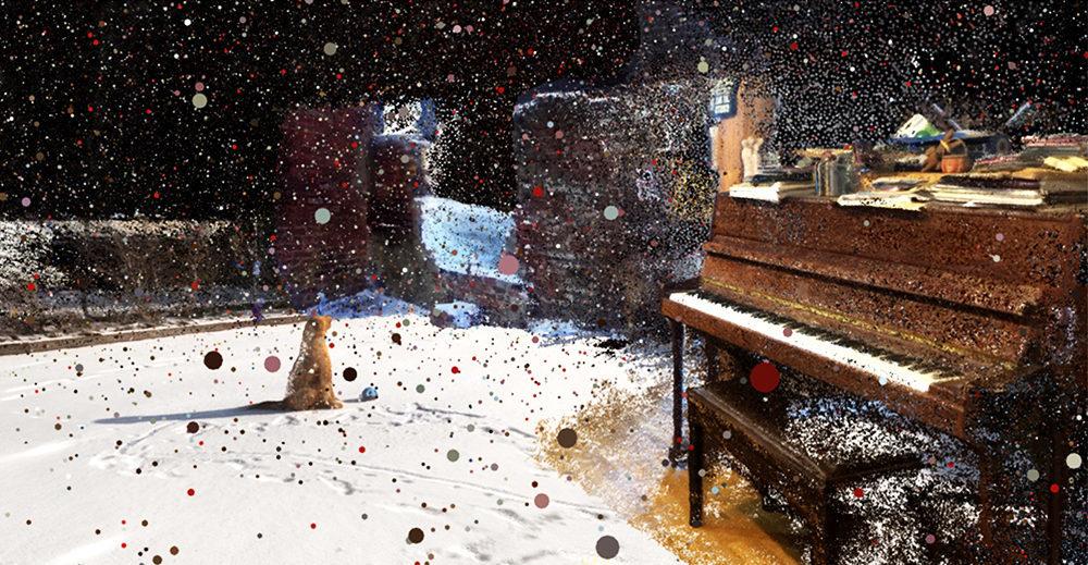 film still particles piano