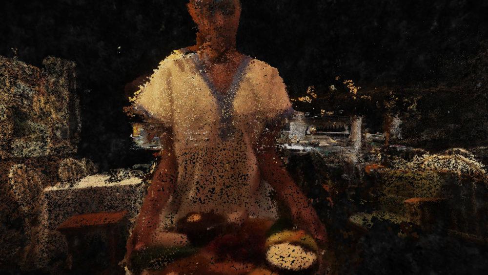 VR film still particles
