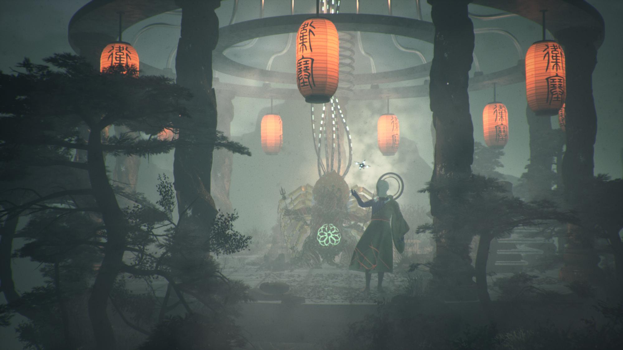 film still animation lanterns forrest