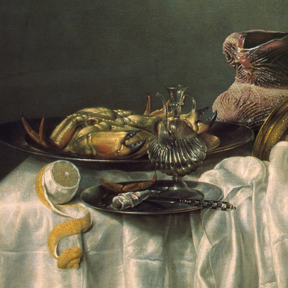 4 Young Ayata Breafast With A Crab And A Fizz Object After Willem Claesz Heda 1648 2014