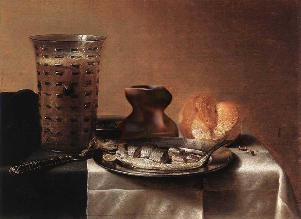 5 Young Ayata Still Life With Herring And Hot Stone Object After Pieter Claesz 1636 2014