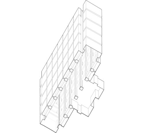 01 Larkin Administrative Building Atrium Worms Eye View Drawing By Author