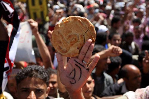 Protestors in Yemen