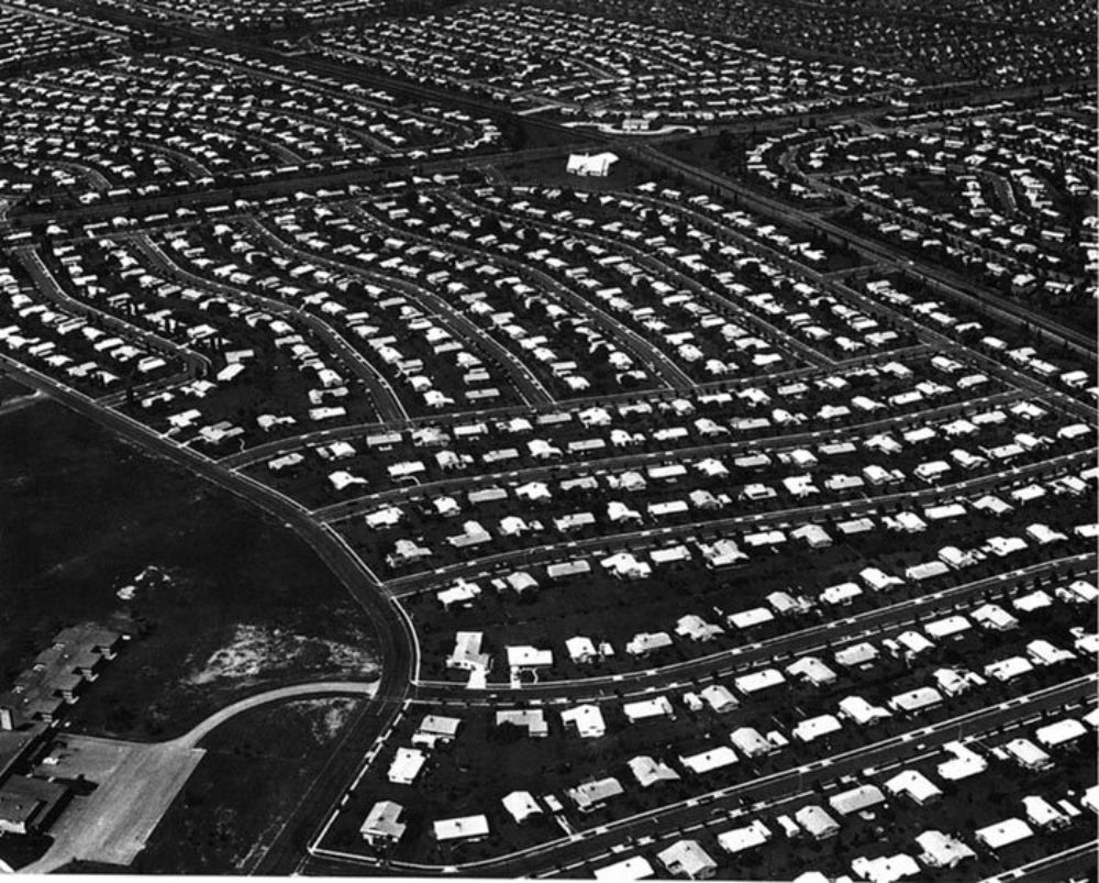 Aerial view of Levittown