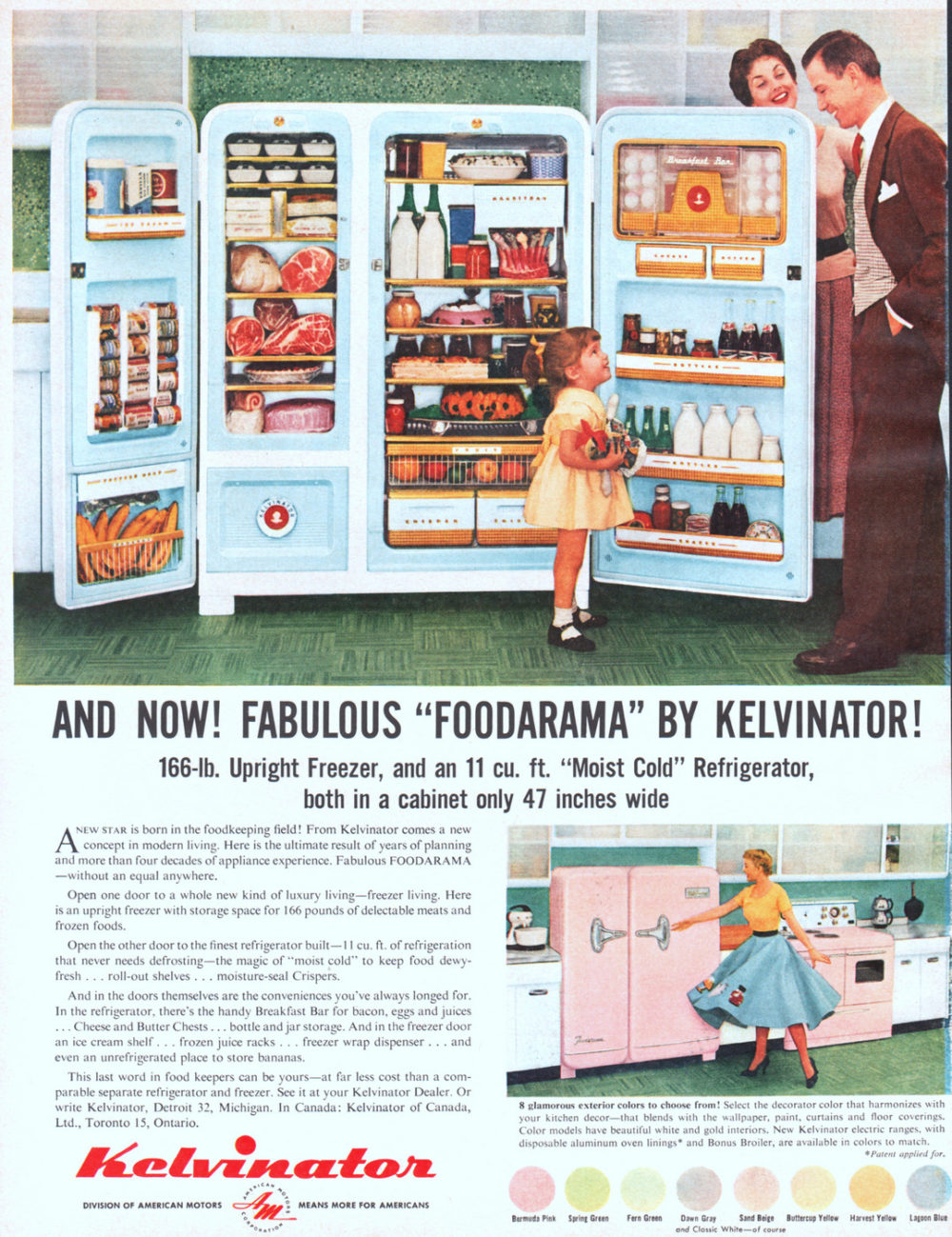 01 Kelvinator Moist Cold Refrigerator