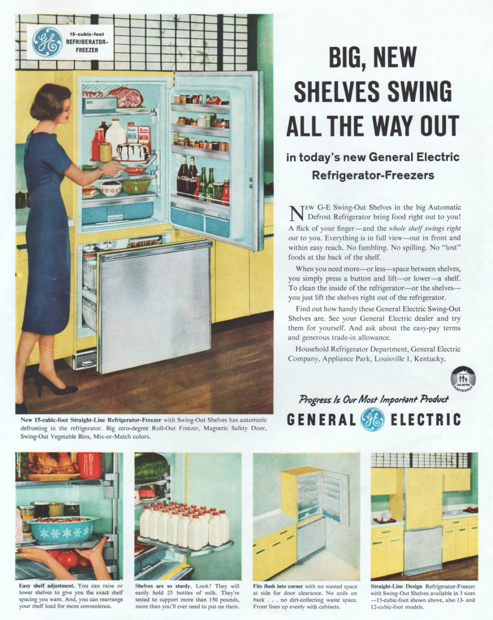 04 Ge Straight Line Refrigerator Freezer