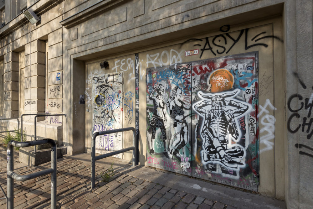 The Berghain front door