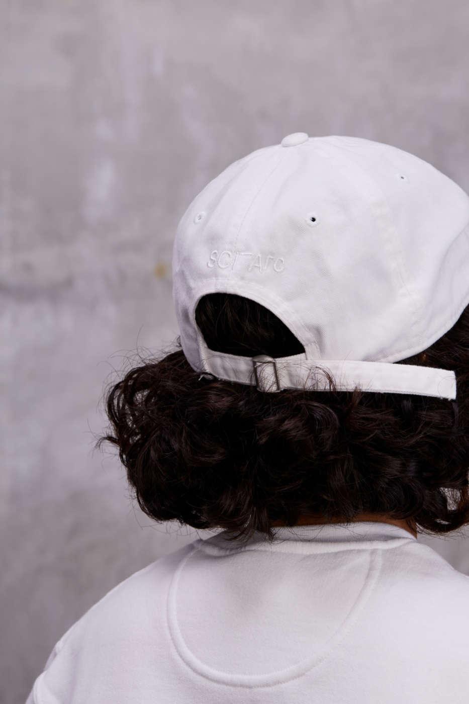 sciarc logo backside of white hat