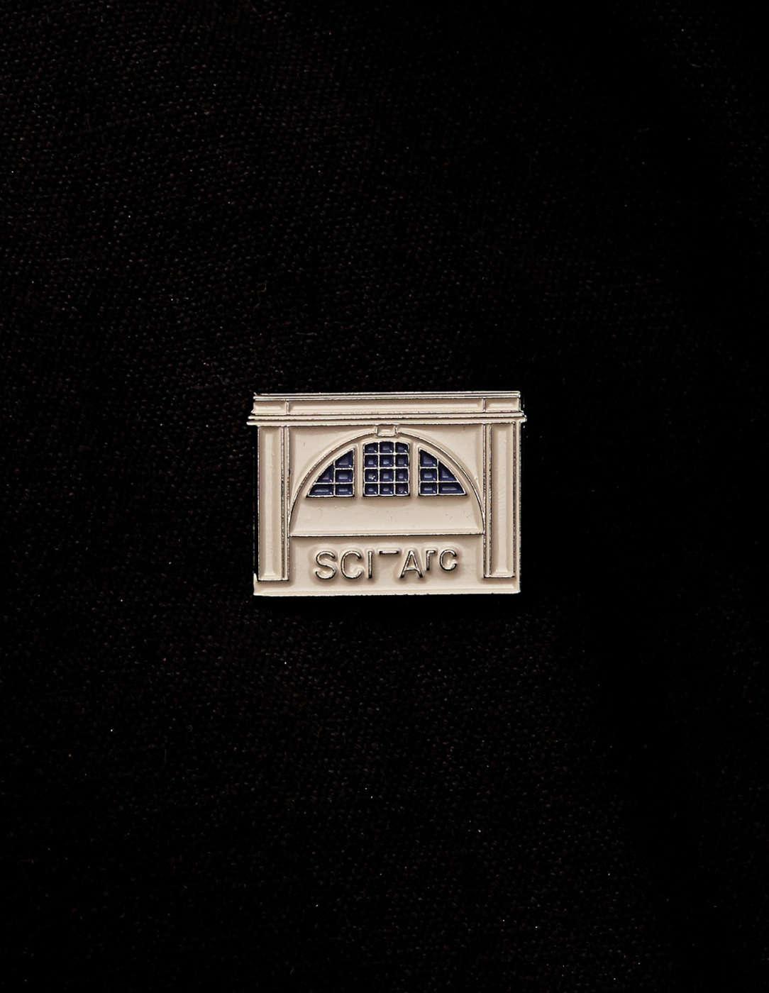 sciarc building elevation enamel pin