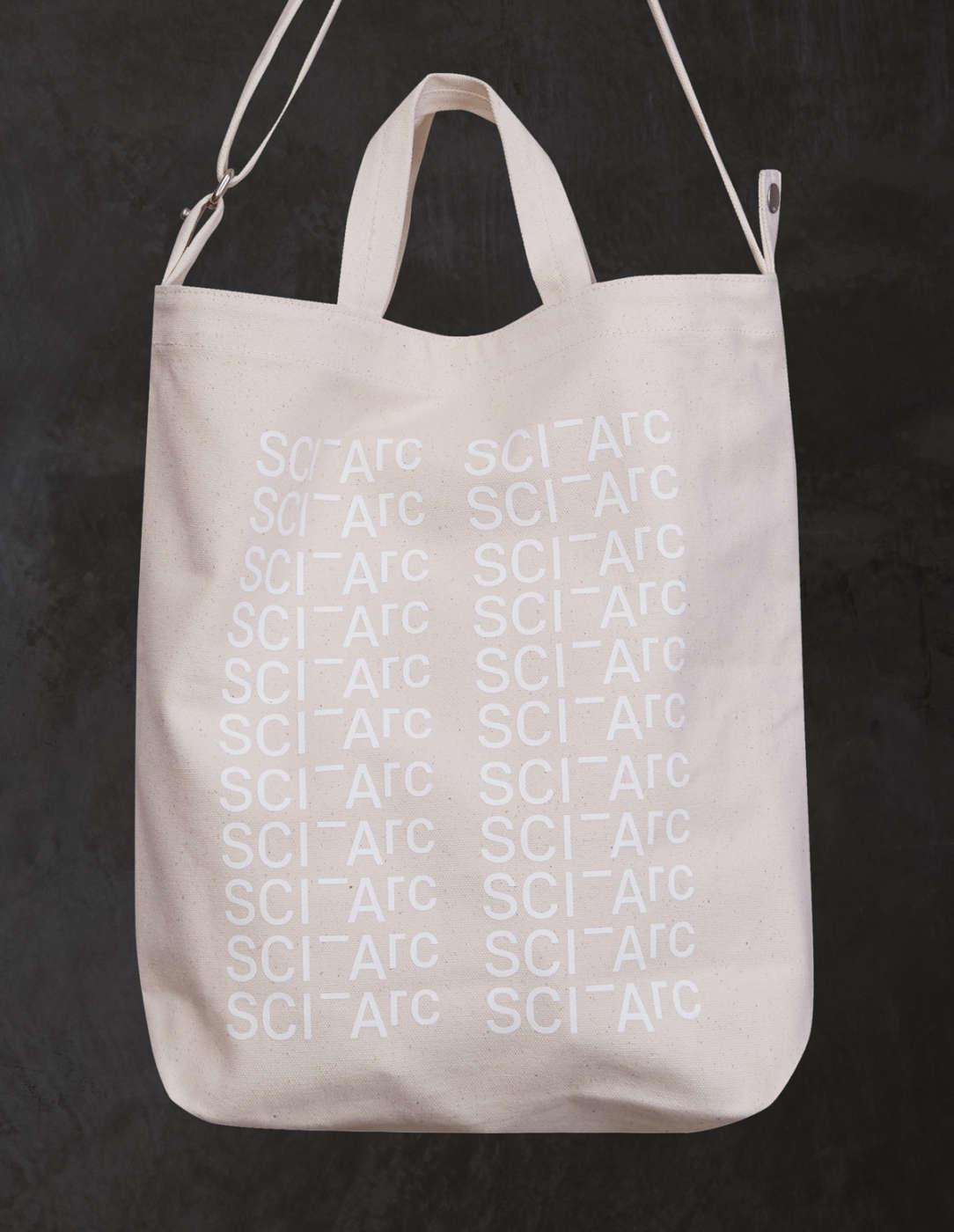white sciarc logo bag