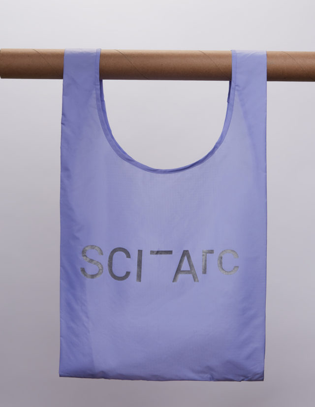 sciarc logo purple bag