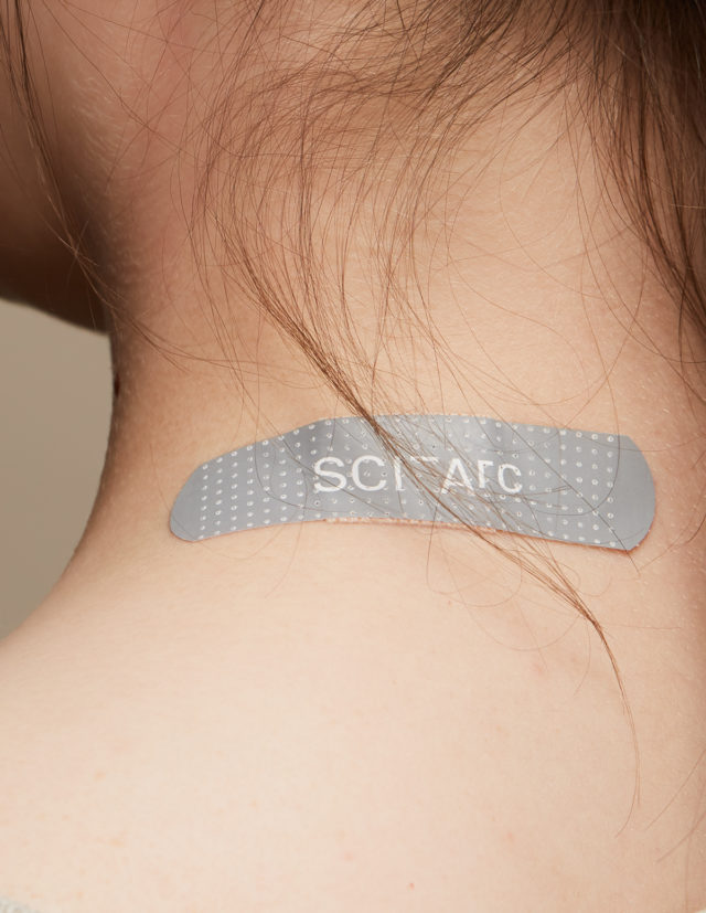 sciarc logo bandaid on skin