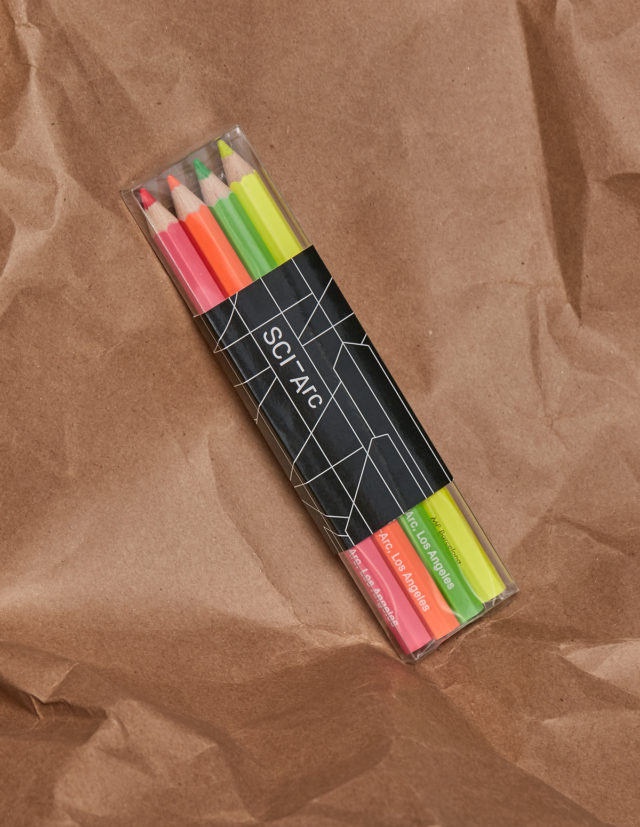 neon pencil set packaged