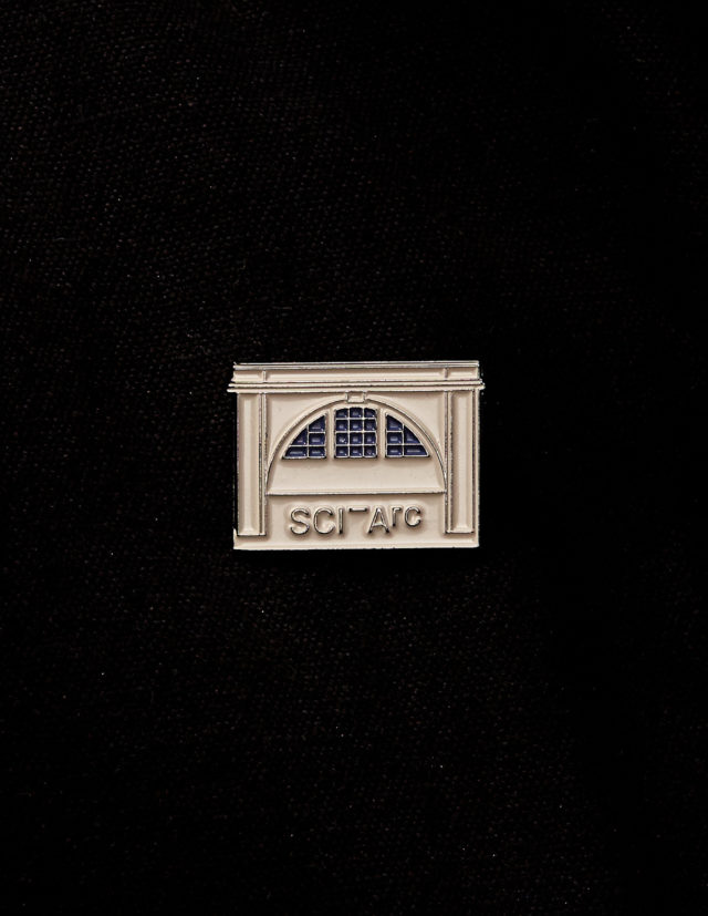 sciarc building elevation enamel pin