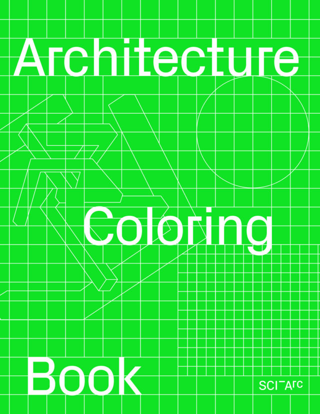 sciarc architectural coloring book cover