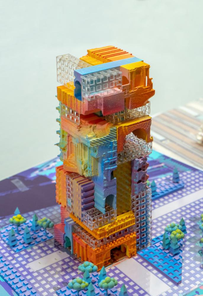 multi color architecture model