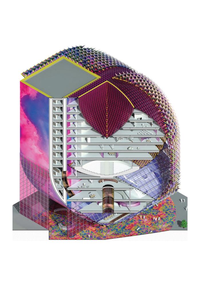 multicolor architecture section