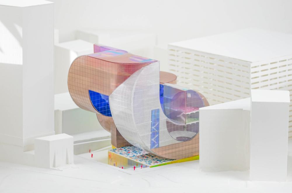 multicolored architecture render