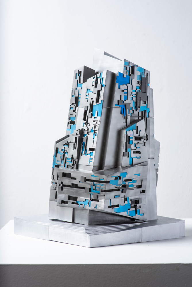 blue grey architecture model
