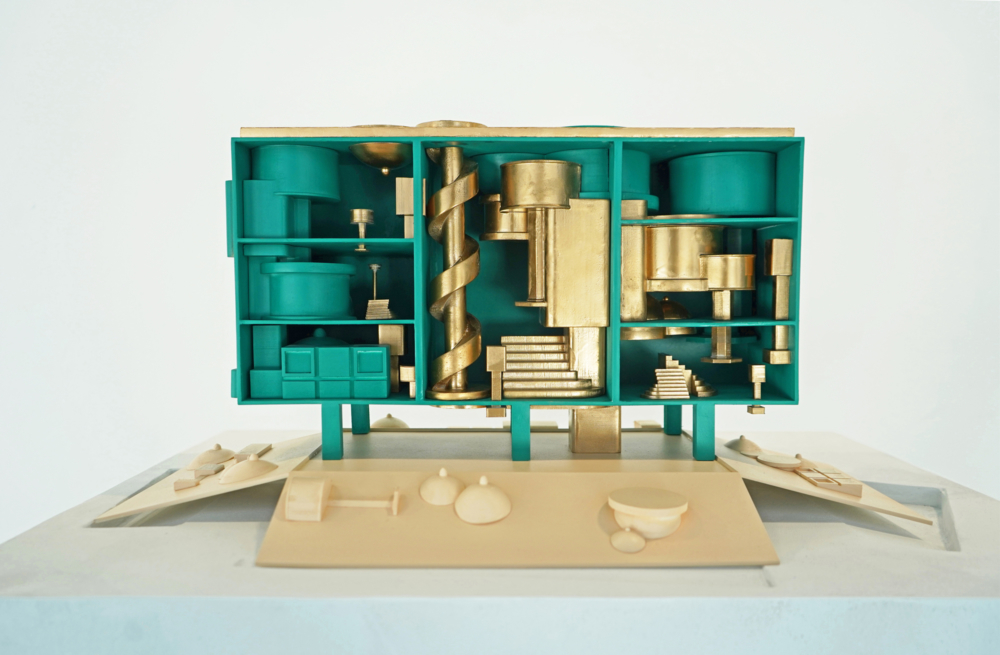 green gold architecture model