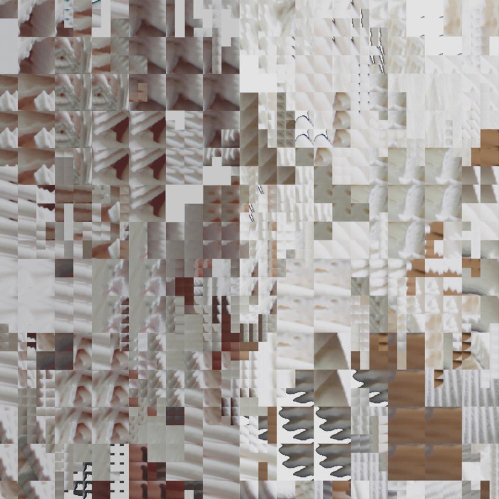 pale grid collage in visual studies