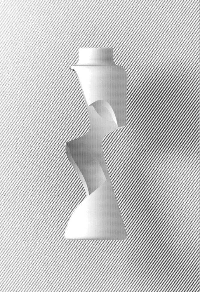 white shaded elevation boolean object