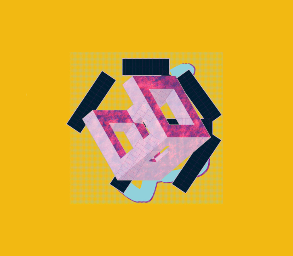 colorful oblique cube rendering in visual studies