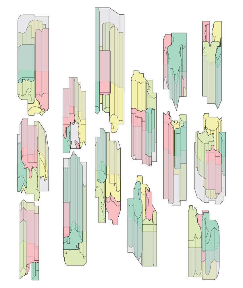 colorful iterations of a building
