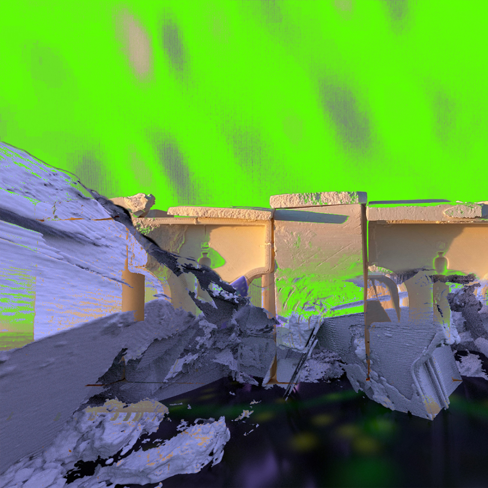 acid green ruins purple