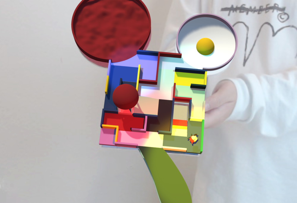 colorful maze ar model by student