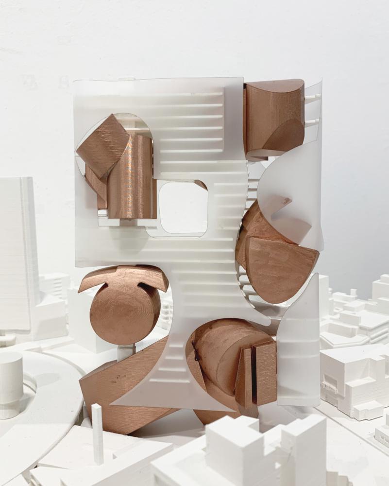 clear copper architecture model