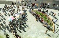 Folksamling från ovan, Pergolan