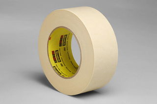 3M 202 Crepe Masking Tape 202 Tan, 72 mm x 55 m 6.3 mil, 12 per case Bulk