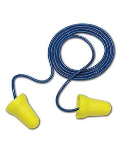3M 312-1222 3M™ 312-1222 E-A-R E-Z-Fit Corded Earplugs, 200 Pairs, Blue/Yellow