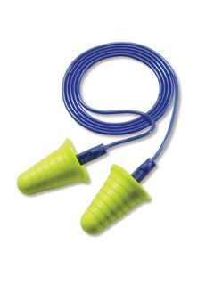 3M 318-1009 3M™ 318-1009 E-A-R Push-Ins Disposable Corded Earplugs, 200 Pairs, Blue/Yellow