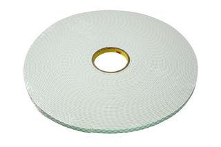 3M 4004 Double Coated Urethane Foam Tape 4004 Off-White, 1 in x 18 yd 1/4 in, 9 per case Bulk