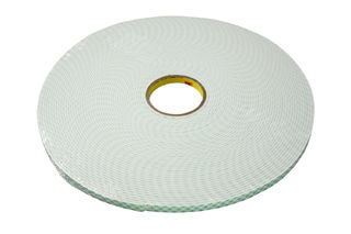 3M 4004 Double Coated Urethane Foam Tape 4004 Off-White, 3 in x 18 yd 1/4 in, 3 per case
