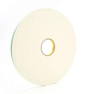 3M 4008 Double Coated Urethane Foam Tape 4008 Off-White, 1/2 in x 36 yd 1/8 in, 18 per case Bulk
