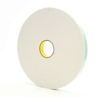 3M 4008 Double Coated Urethane Foam Tape 4008 Off-White, 1 in x 36 yd 1/8 in, 9 per case Bulk
