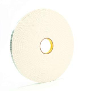 3M 4008 Double Coated Urethane Foam Tape 4008 Off-White, 3/4 in x 36 yd 1/8 in, 12 per case Bulk