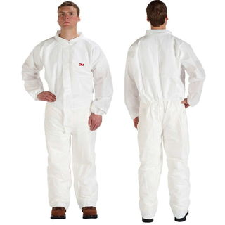 Disposable Protective Coverall Safety Work Wear 4510CS-BLK-L 25/Case