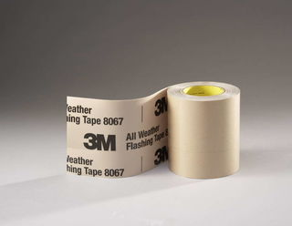 3M 8067 All Weather Flashing Tape 8067 Tan, 6 in x 75 ft Slit Liner, 8 rolls per case