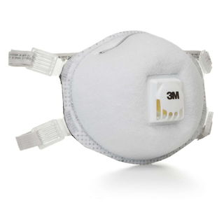3M 8214 Particulate Respirator 8214, N95, with Faceseal and Nuisance Level Organic Vapor Relief 80 E