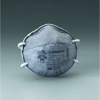 3M 8247 Particulate Respirator 8247, R95, with Nuisance Level Organic Vapor Relief  120/cs